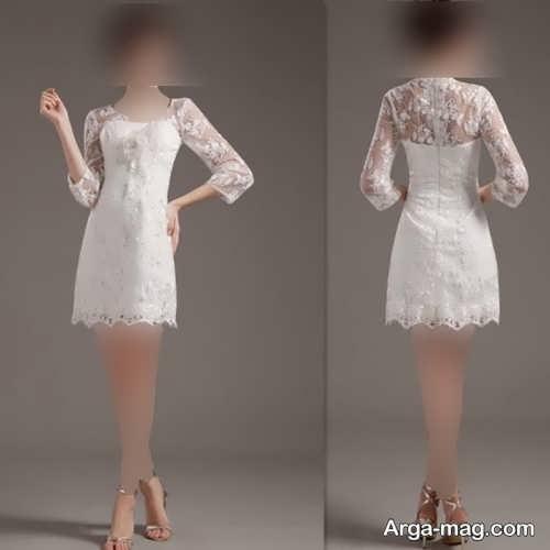 لباس عروس زیبا و کوتاه