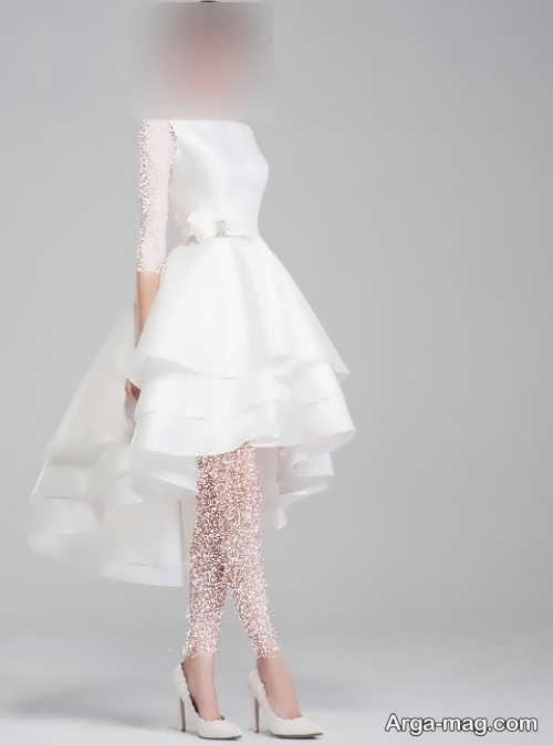 لباس عروس زیبا و آستین کوتاه