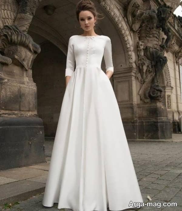مدل قشنگ لباس عروس معمولی