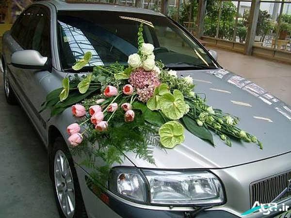 مدل جدید تزیین ماشین عروس زیبا