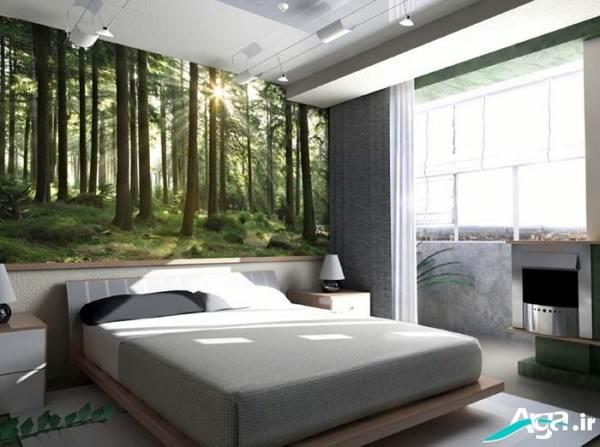کاغذدیواری سه بعدی اتاق خواب