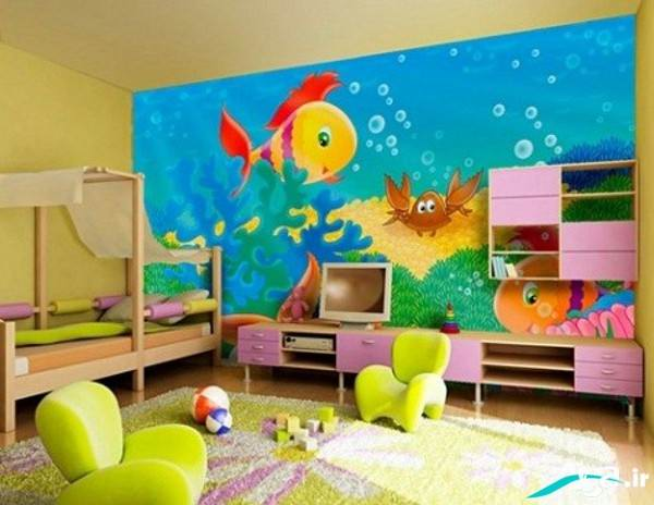 مدل کاغذ دیواری اتاق کودک