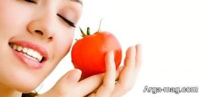 ماسکی از گوجه فرنگی