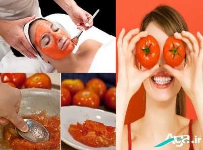 ماسک گوجه فرنگی مفید