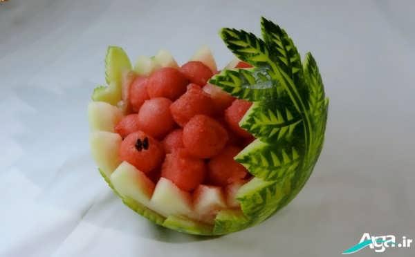 تزیین هندوانه با قالب میوه