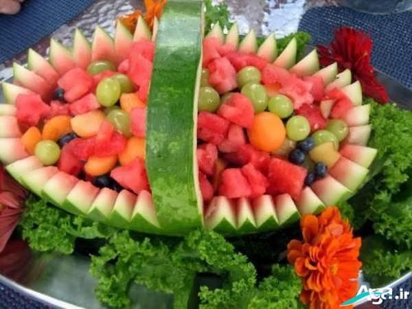 تزیین هندوانه شب یلدا جدید