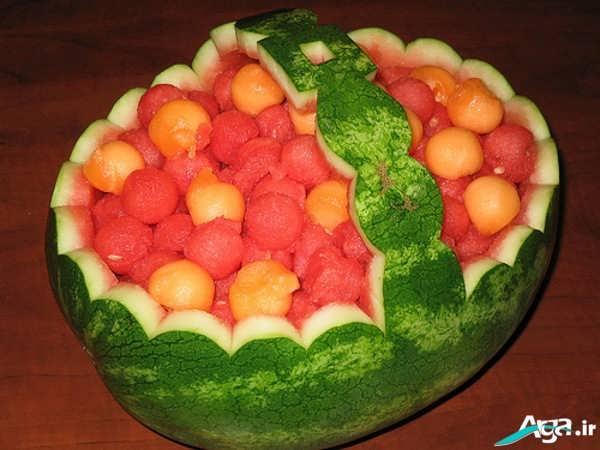 ساخت سبد با هندوانه