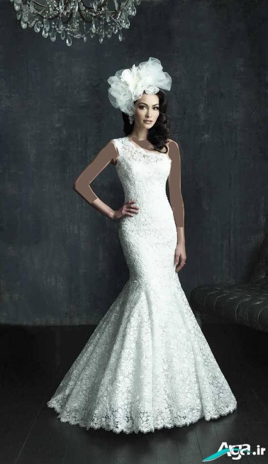 لباس عروس طرح مدل ماهی