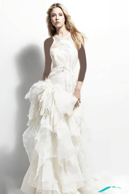 بالاتنه کار شده لباس عروس