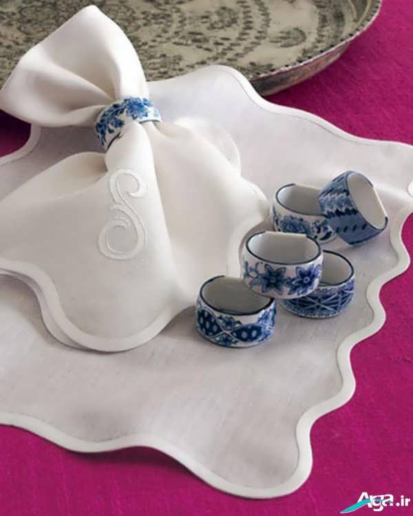 تزیین دستمال سفره عروس