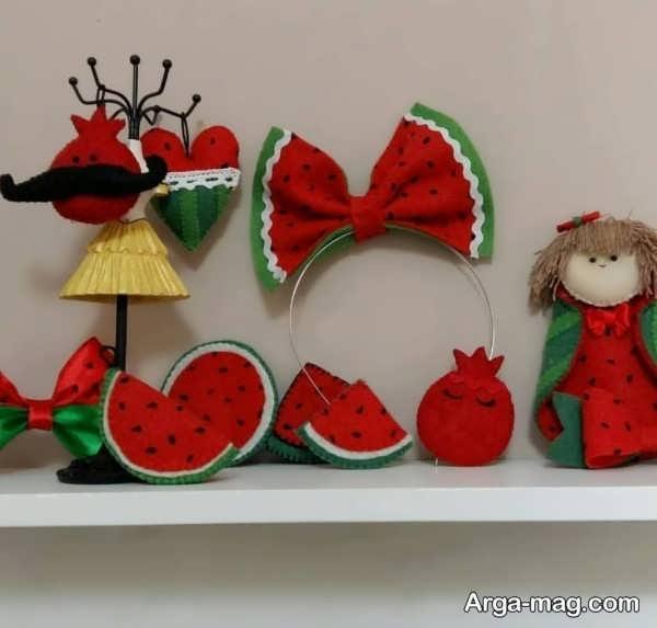 کاردستی برای شب یلدا با طرح هندوانه