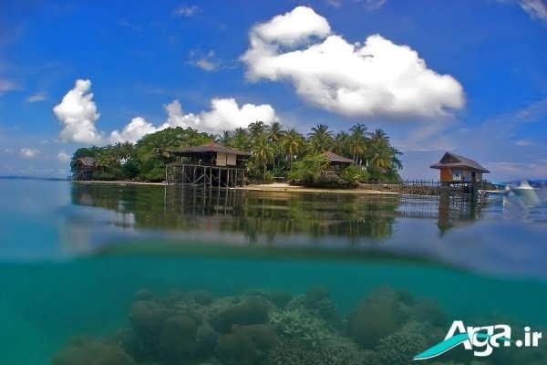جزیره ای در میان دریا