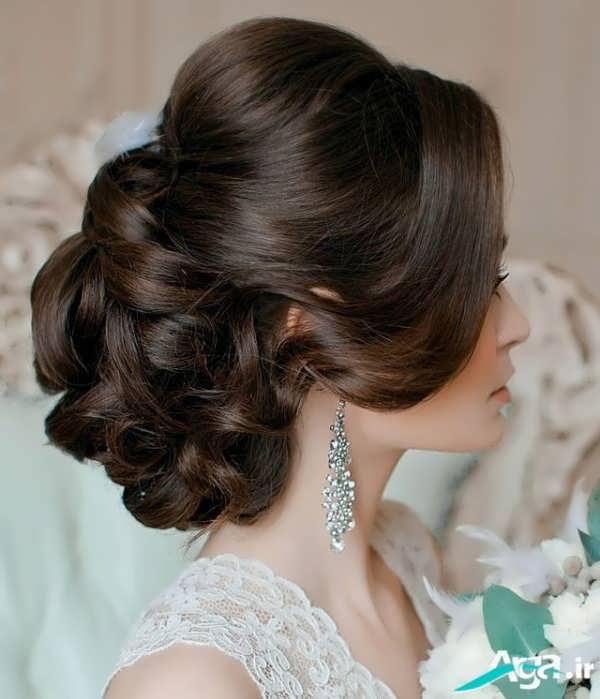 مدل ارایش موی عروس بسیار زیبا و جدید