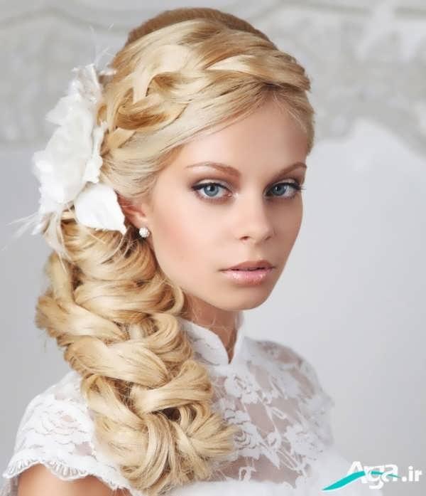 جدیدتری عکس های مدل آرایش مو عروس