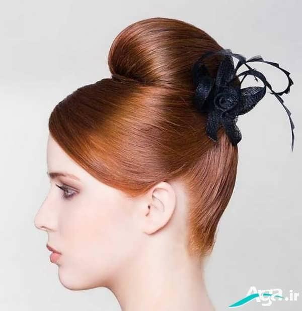 شینیون مو کوتاه با رنگ مناسب
