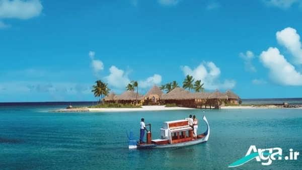 جزیره ای بسیار دیدنی در دریا