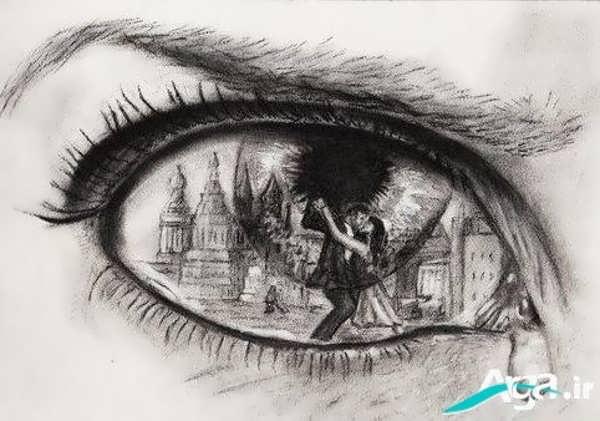 تصویر بسیار زیبا از چشم گریان