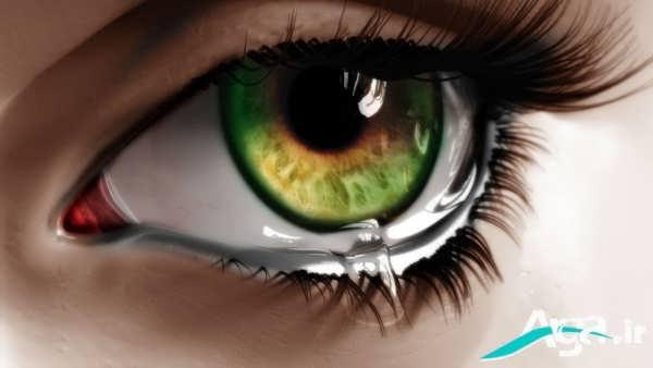عکس چشم زیبا و گریان
