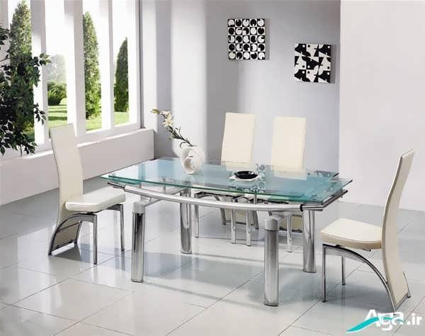 مدل میز ناهارخوری سفید