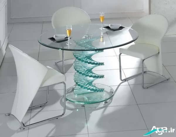 مدل جدید میز ناهار خوری شیشه ای