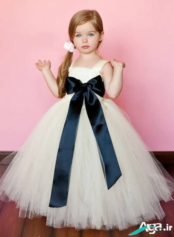 لباس عروس پاپیون دار