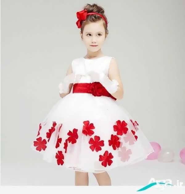 لباس عروس با طرح گل