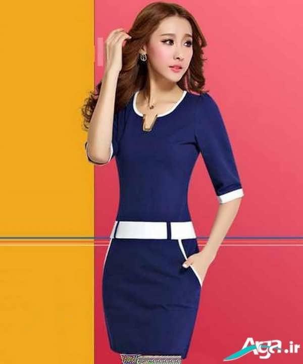 لباس مجلسی ساده آبی