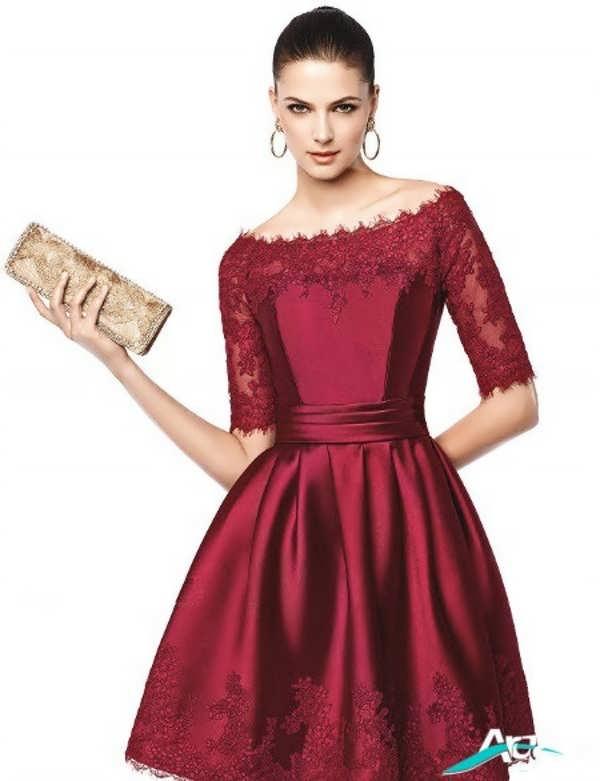 لباس مجلسی قرمز ساده