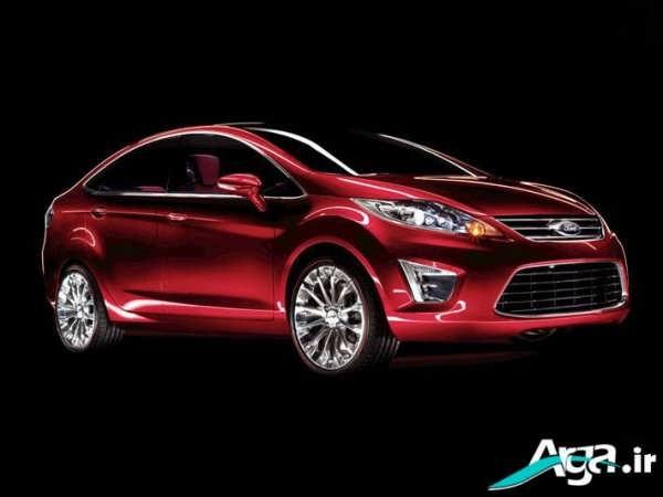 ماشین فورد قرمز زیبا