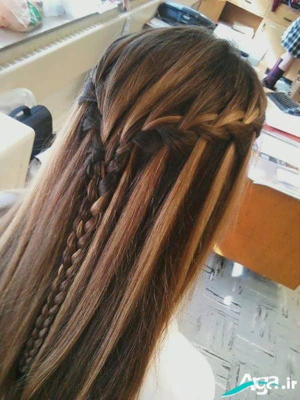 مدل مو باز به همراه بافت