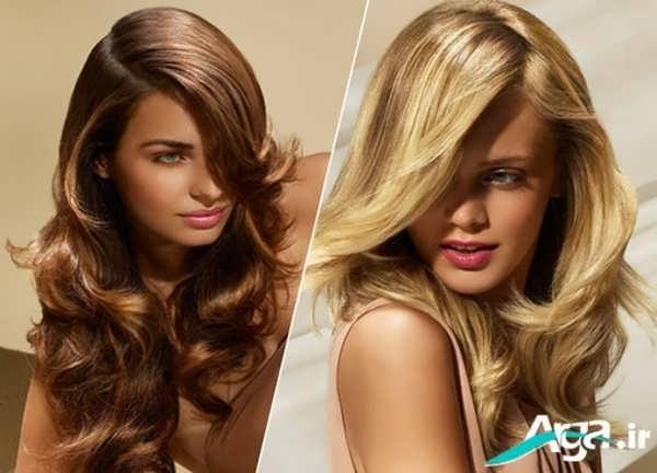 مدل مو باز و آزاد