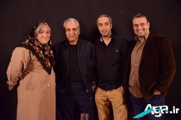 مهران مدیری در جمع بازیگران