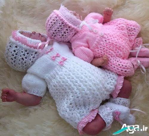 مدل بسیار جذاب لباس بافتنی نوزاد