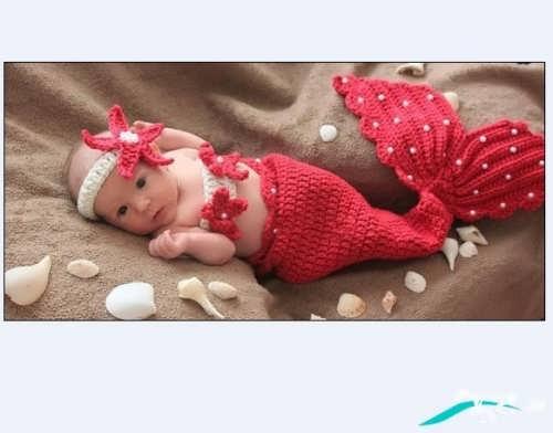 مدل بافتنی نوزاد با طرحی متفاوت