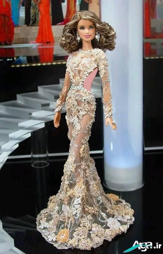 لباس عروسکی بلند زیبا و شیک