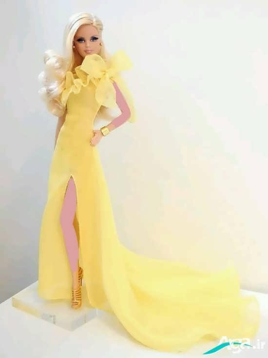 مدل لباس عروسکی به رنگ زرد
