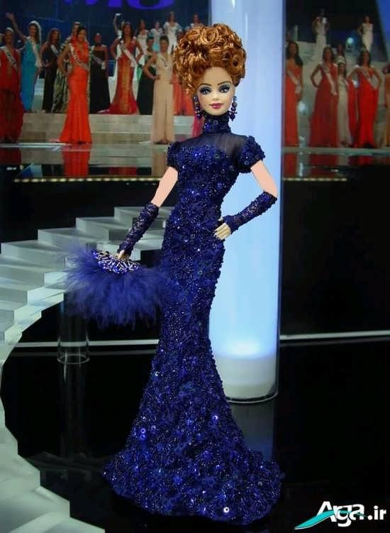 مدل لباس عروسکی با طرح بلند