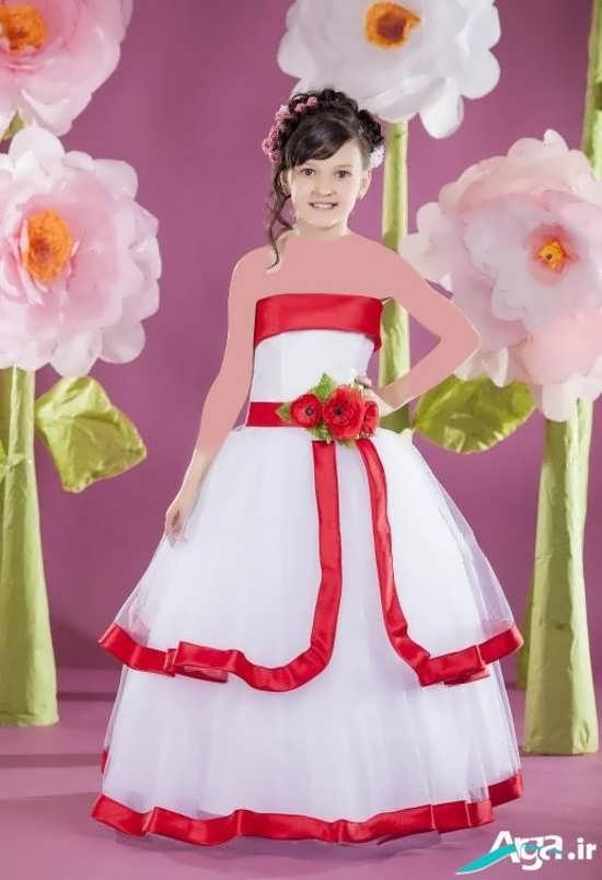 لباس عروسکی با دامن پف دار