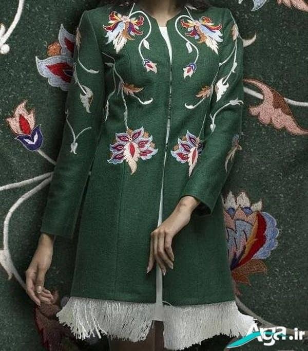 مدل مانتو سنتی سبز