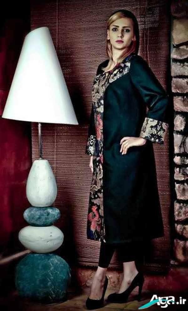 مدل دامن بلند مجلسی کرپ عکس مدل لباس مجلسی یقه دار عکس تلگرام