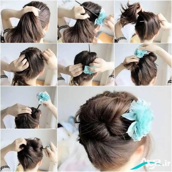 آرایش مو همراه با گل