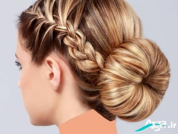 شینیون بسیار ساده و زیبا برای موهای روشن