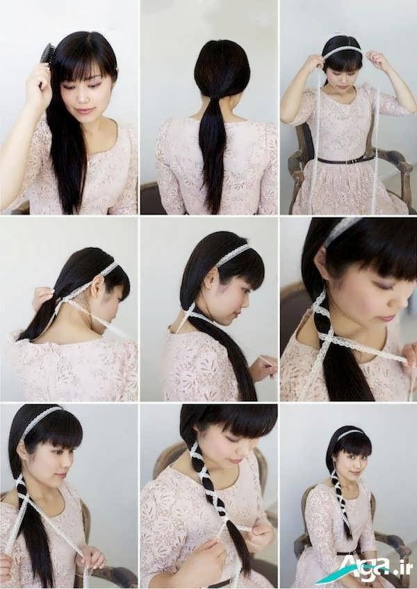شینیون ساده مو دخترانه