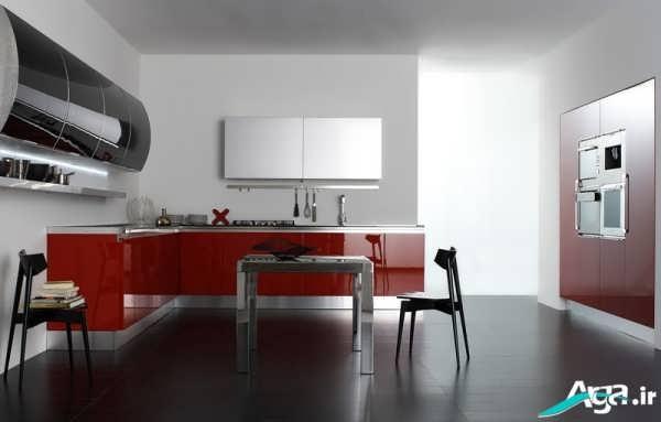 مدل کابینت قرمز