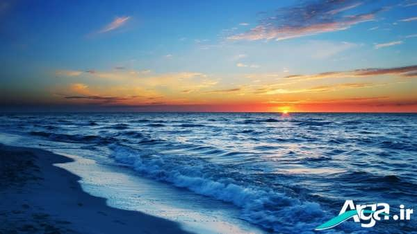 غروب به رنگ سرخ دریا
