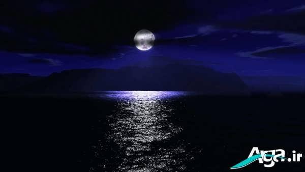 شب بسیار زیبای دریا