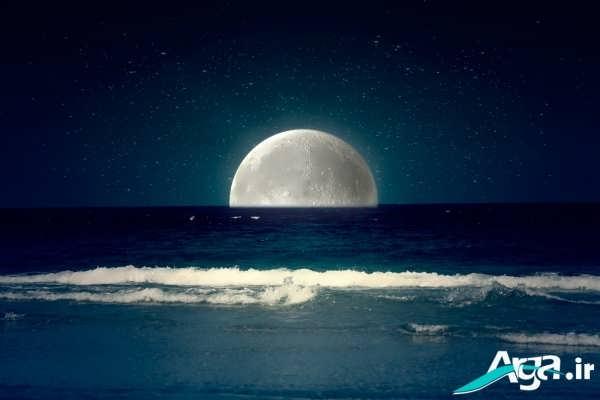 عکس ماه و دریا