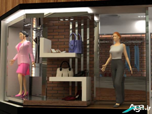 دکور مغازه پوشاک زنانه