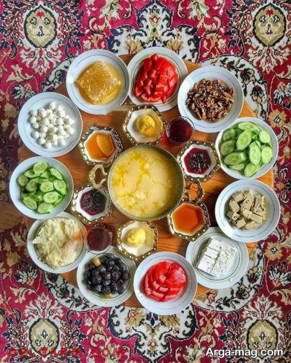 تصویر تزیینات صبحانه