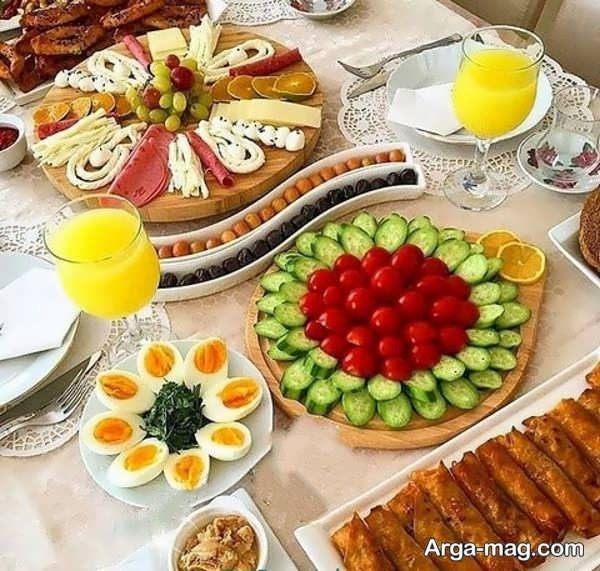 تزیینات لاکچری صبحانه
